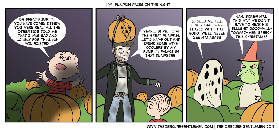 Pumpkin Faces In The Night