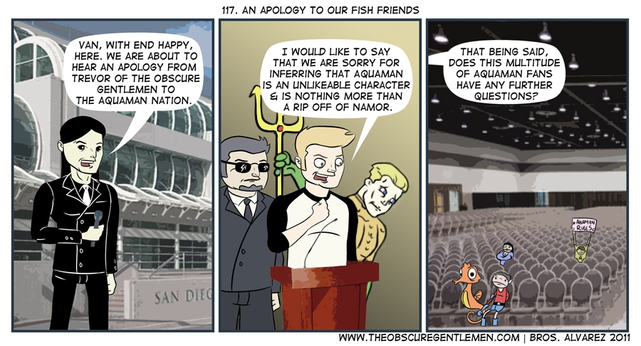 An apology to our fish friends