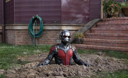 Ant-Man in a hole